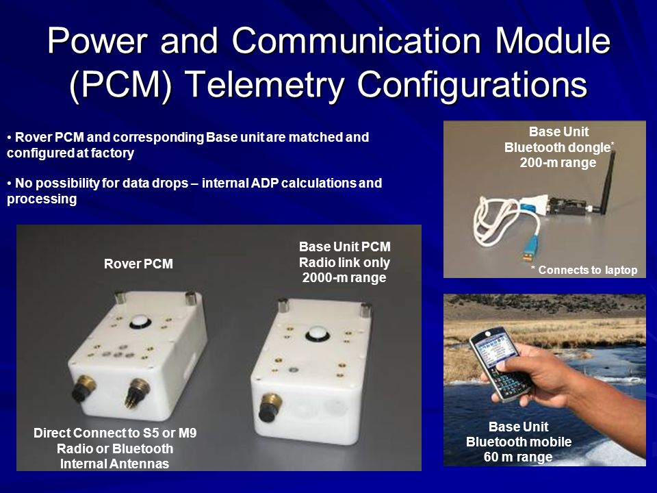 Power and Communication Module (PCM) Telemetry Configurations