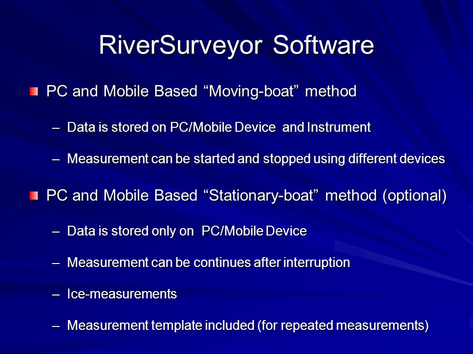 RiverSurveyor Software