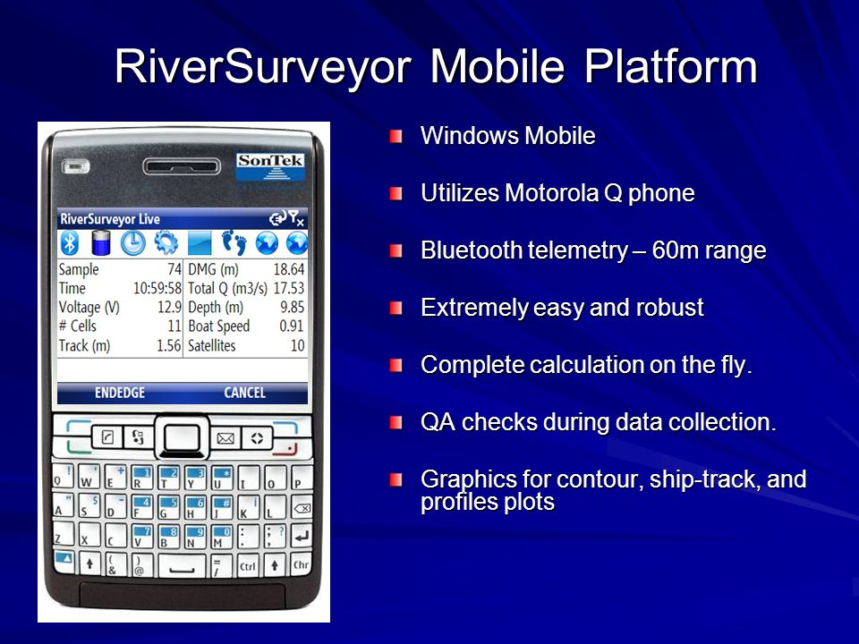 RiverSurveyor Mobile Platform