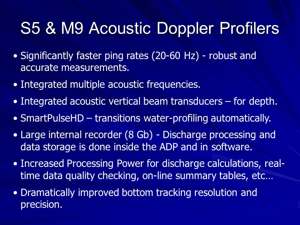 S5 & M9 Acoustic Doppler Profilers