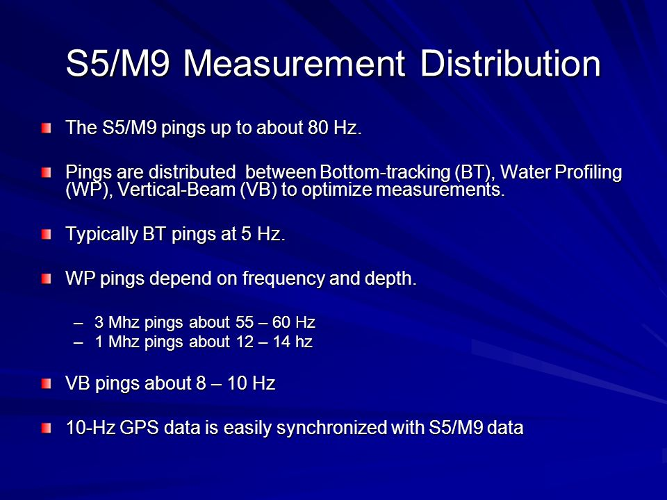 S5/M9 Measurement Distribution