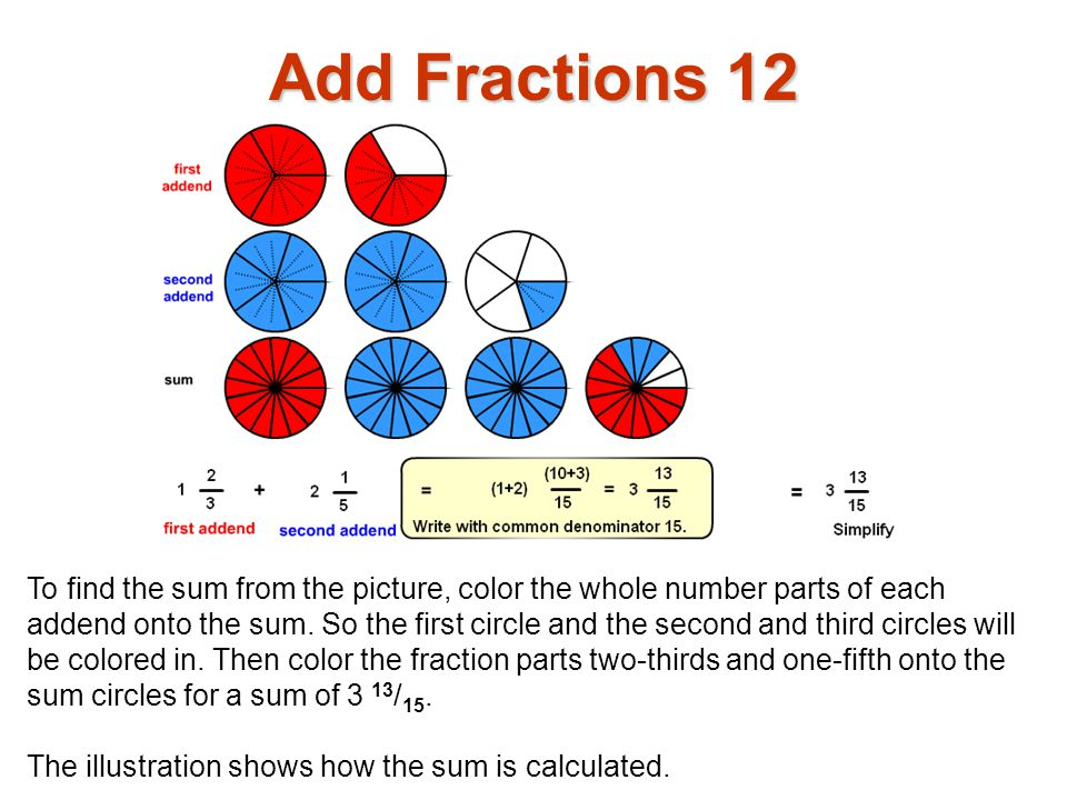 Add Fractions 12