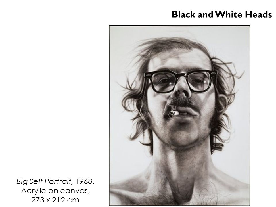 Black and White Heads Big Self Portrait, 1968. Acrylic on canvas,