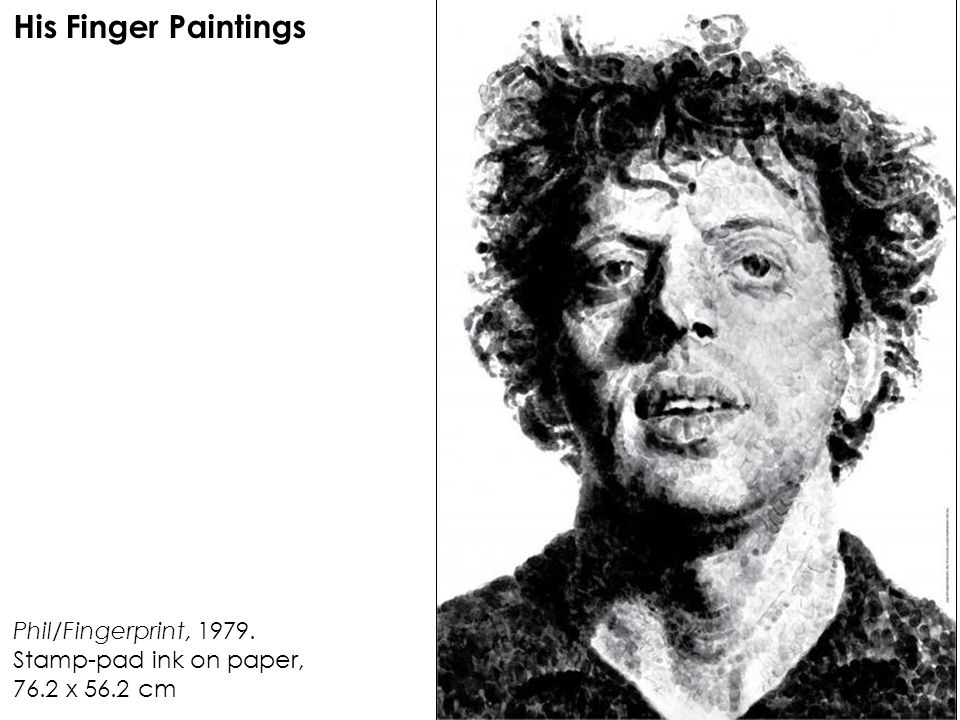 His Finger Paintings Phil/Fingerprint, 1979.