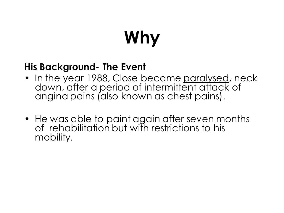 Why His Background- The Event