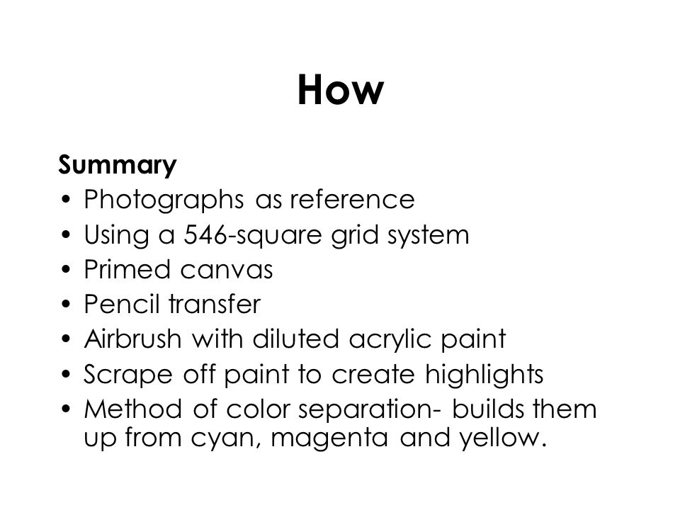 How Summary Photographs as reference Using a 546-square grid system