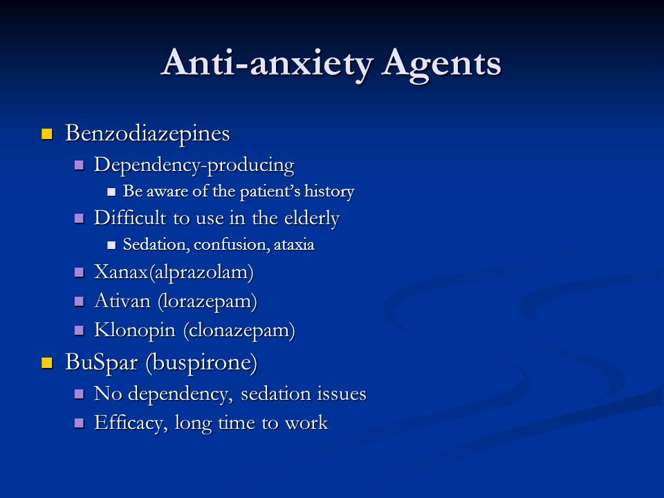 how to come off anti anxiety medication