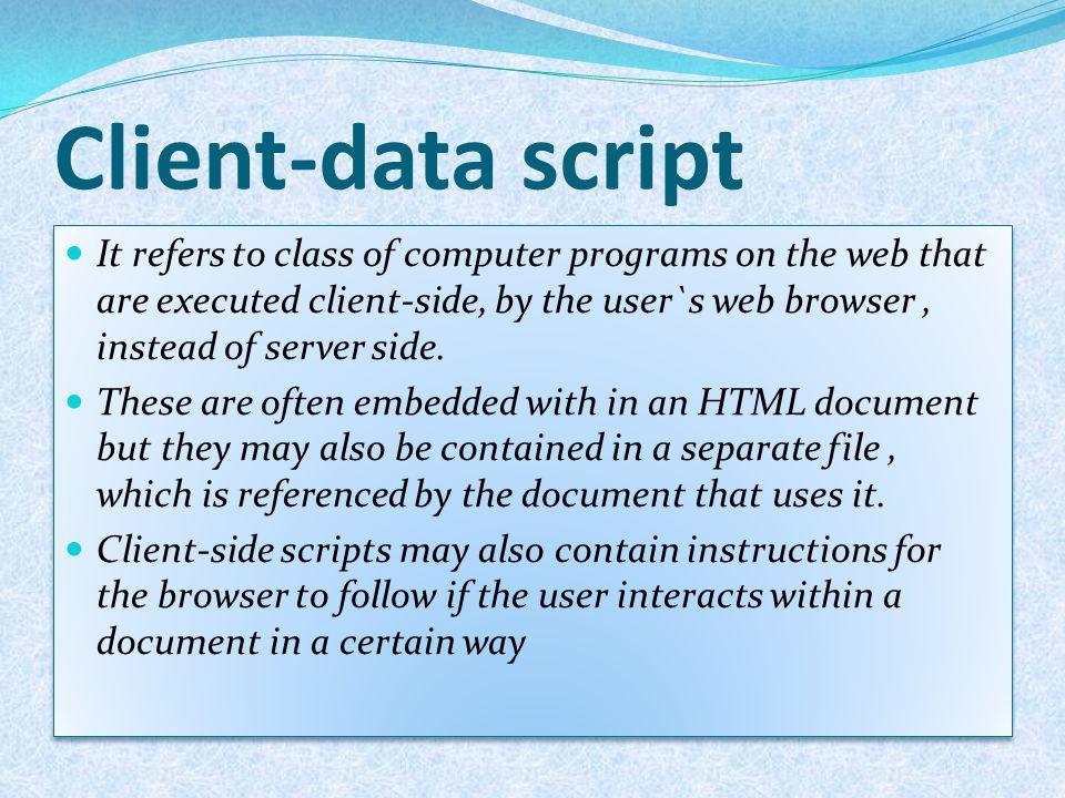 Client-data script