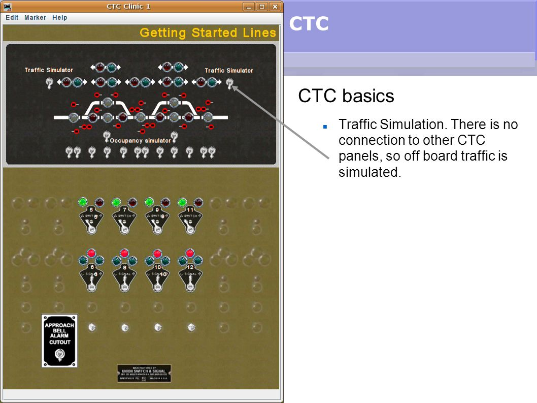 CTC CTC basics. Traffic Simulation.