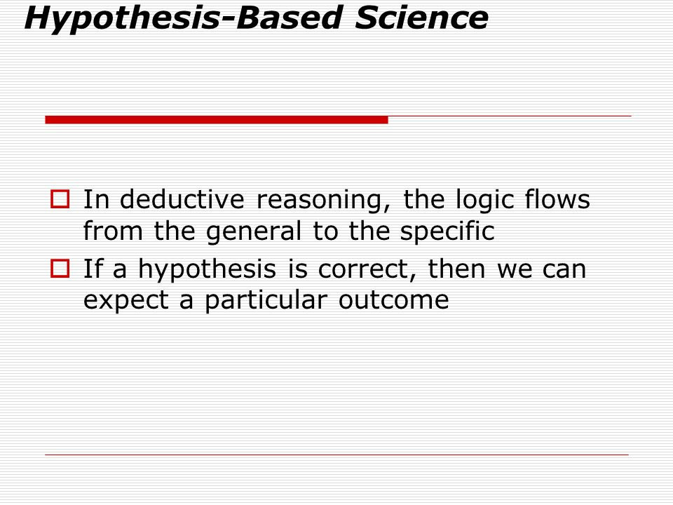Deduction: The If…then Logic of Hypothesis-Based Science