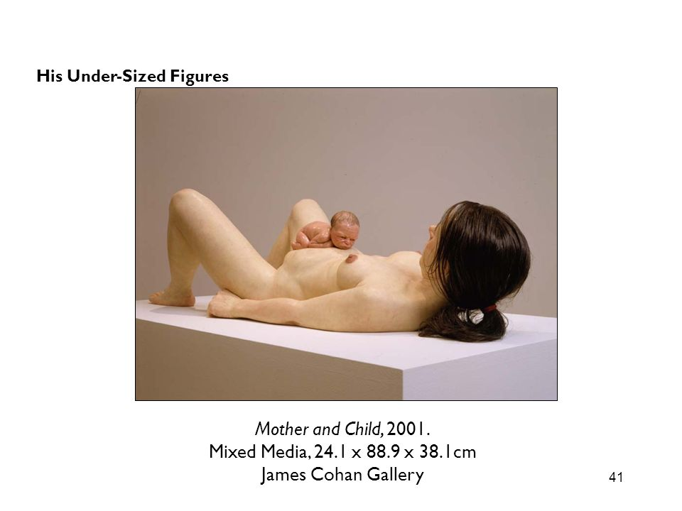 Mother and Child, 2001. Mixed Media, 24.1 x 88.9 x 38.1cm