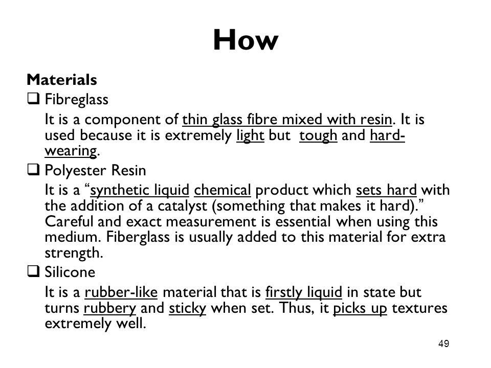 How Materials Fibreglass