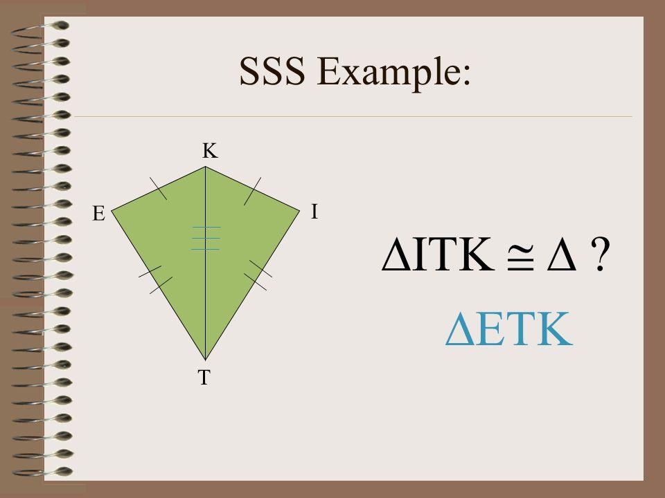 SSS Example: E T I K ITK    ETK