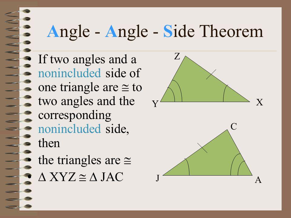 Angle - Angle - Side Theorem