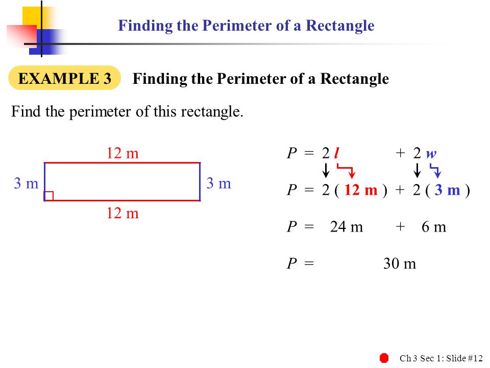 Finding the Perimeter of a Rectangle