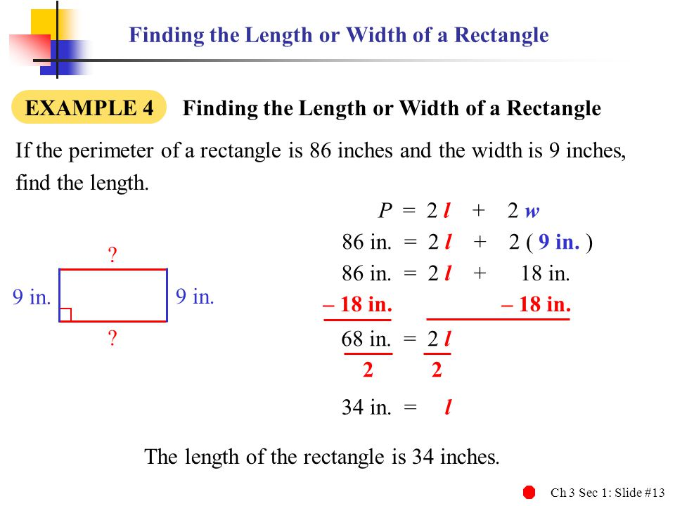 The length of