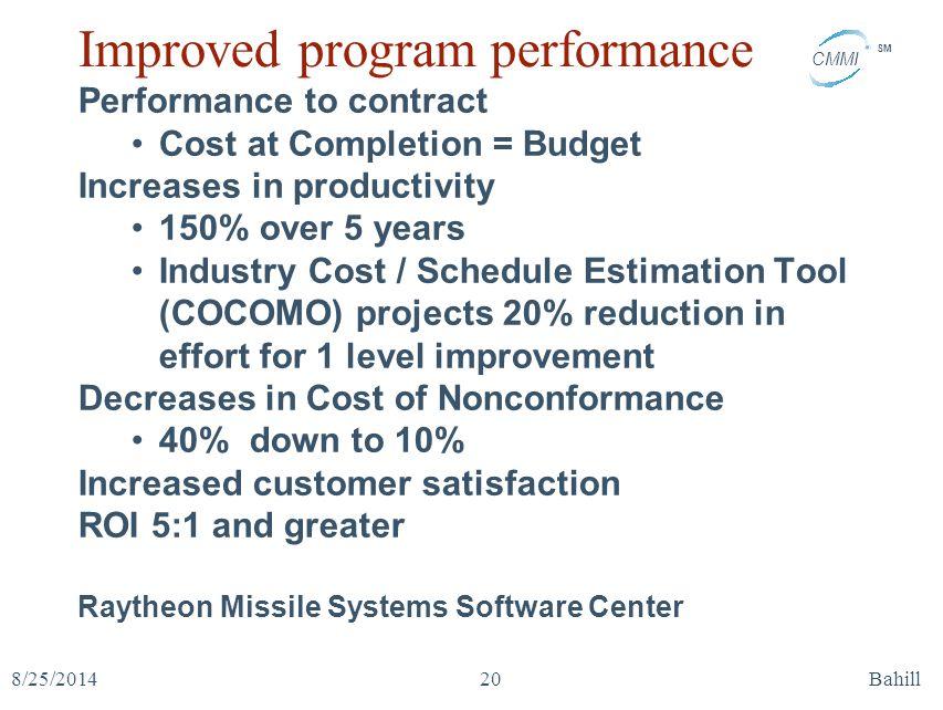 Improved program performance