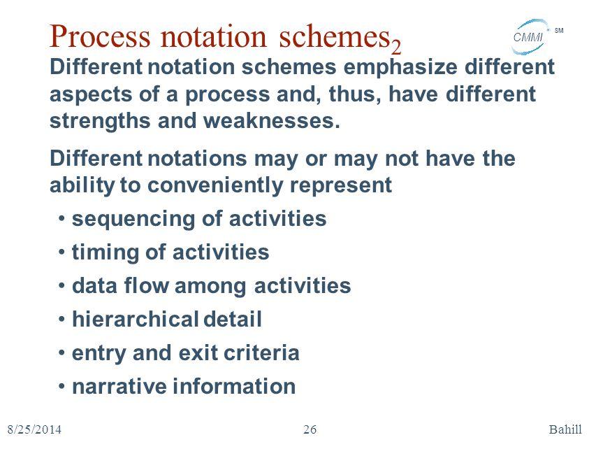Process notation schemes2