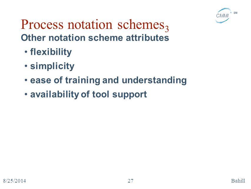 Process notation schemes3