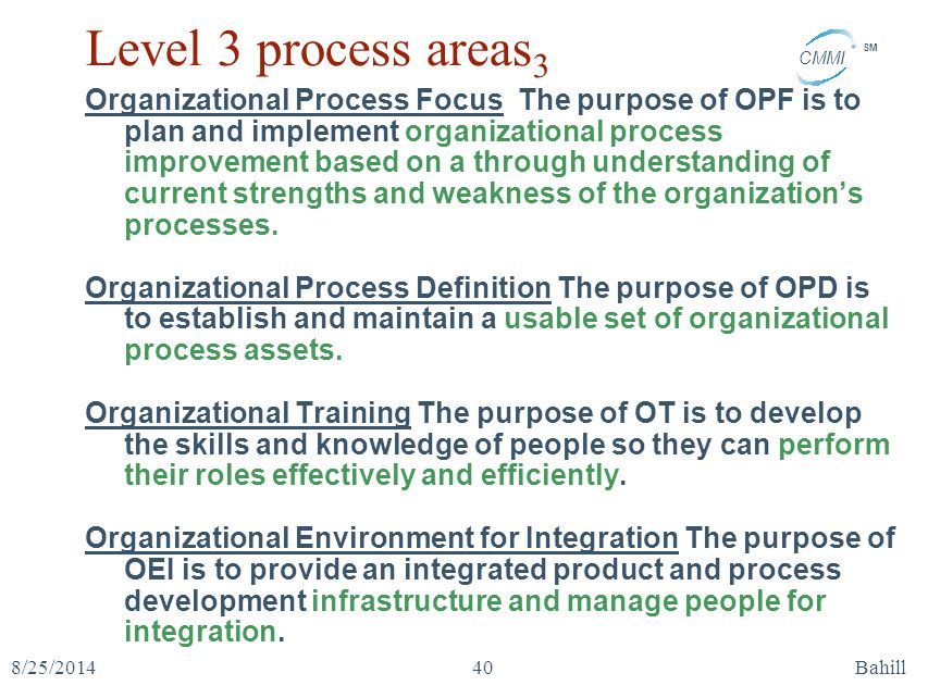 Level 3 process areas3