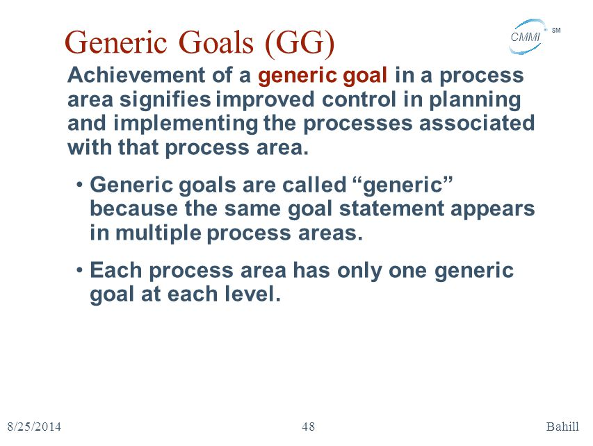 Generic Goals (GG)