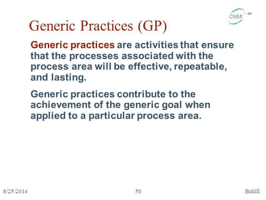 Generic Practices (GP)
