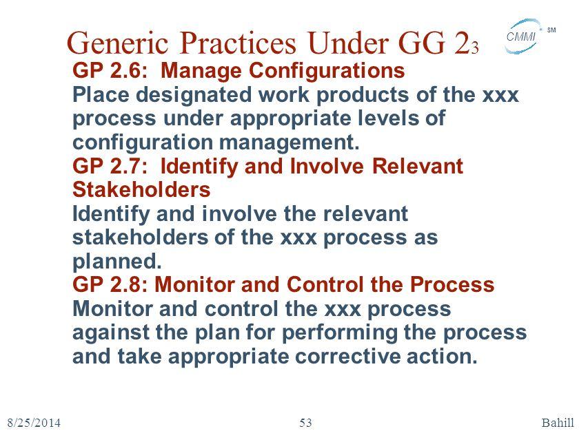 Generic Practices Under GG 23