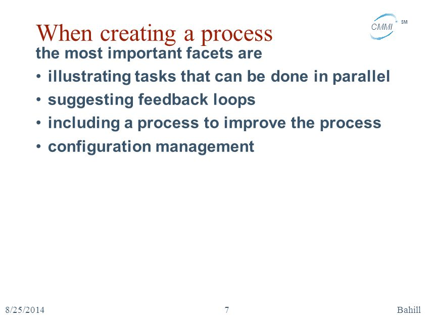 When creating a process