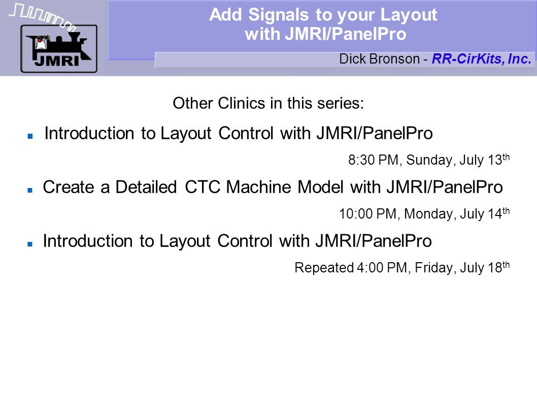 Add Signals to your Layout with JMRI/PanelPro