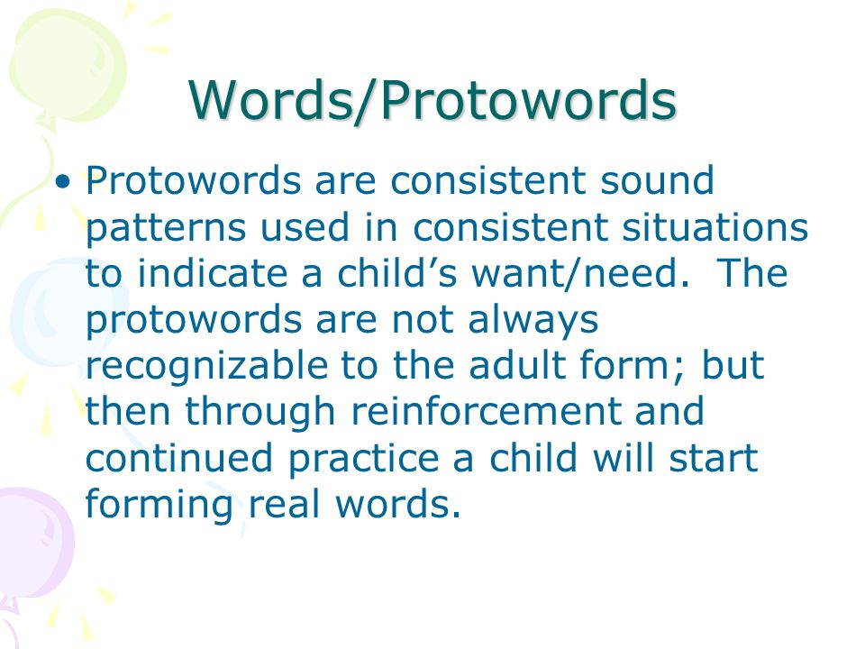 Words/Protowords