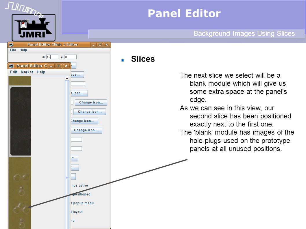 Panel Editor Slices Background Images Using Slices