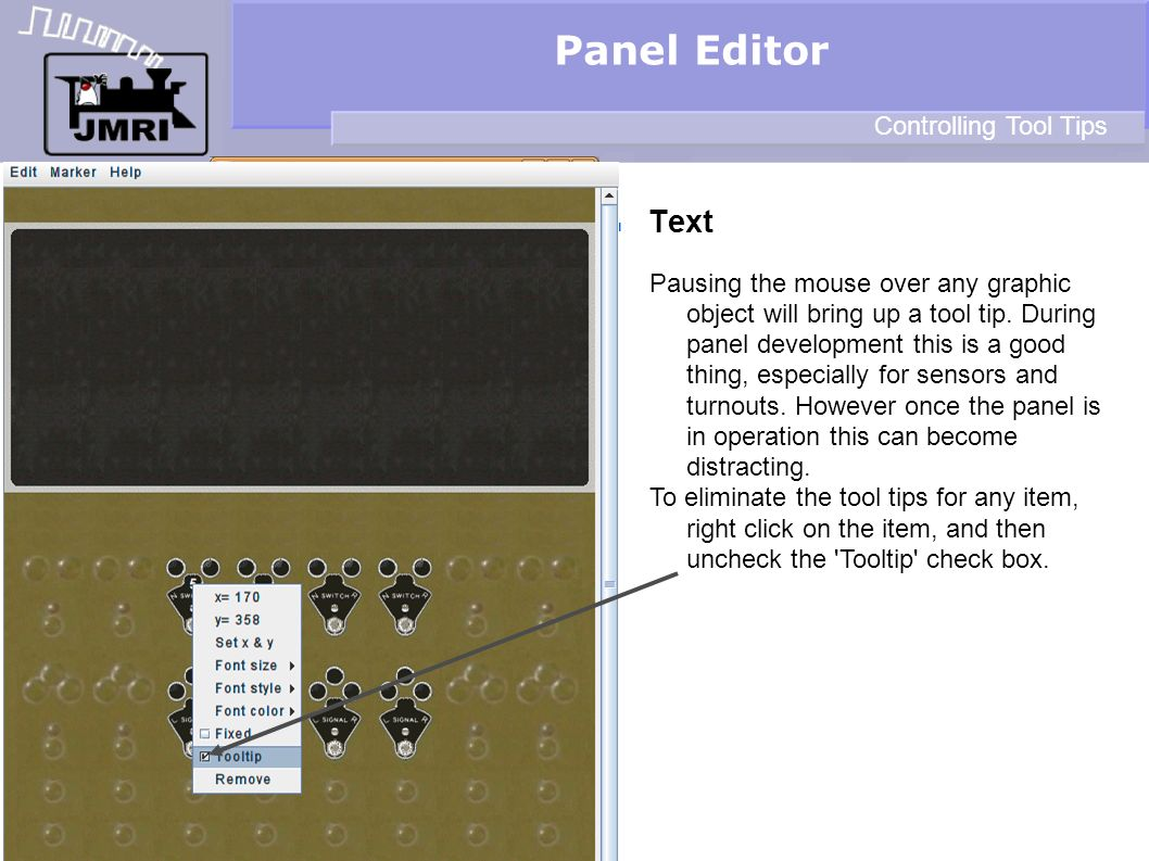 Panel Editor Text Controlling Tool Tips