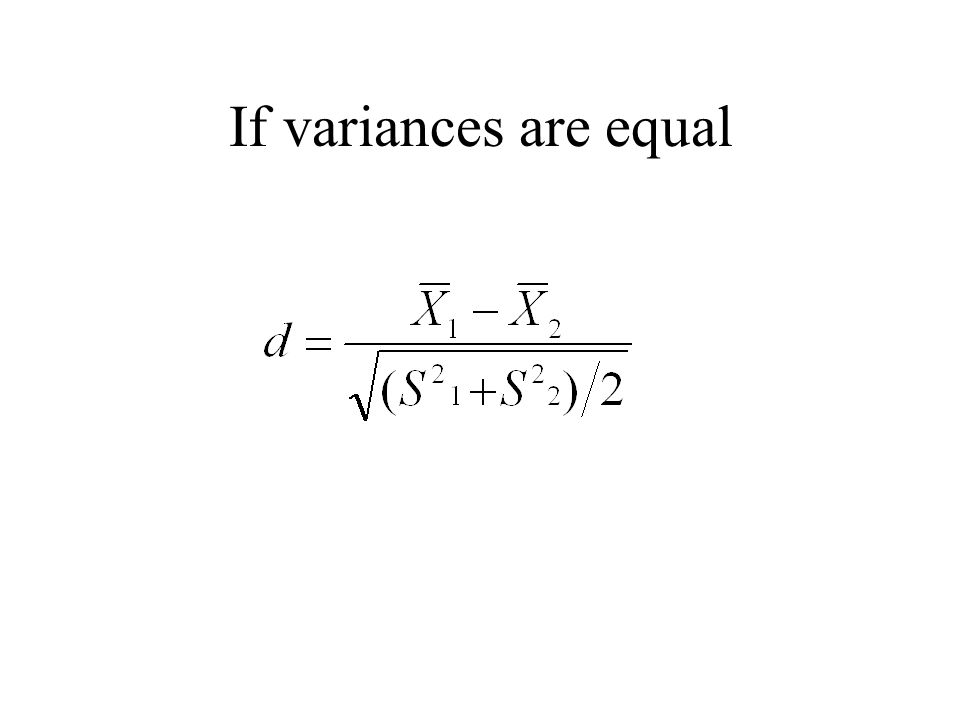 If variances are equal