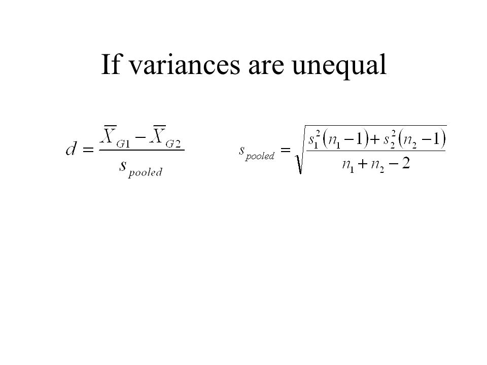 If variances are unequal