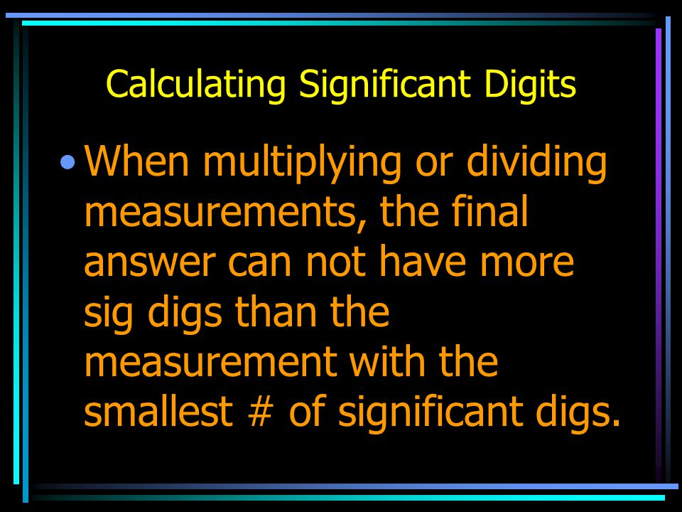 Calculating Significant Digits