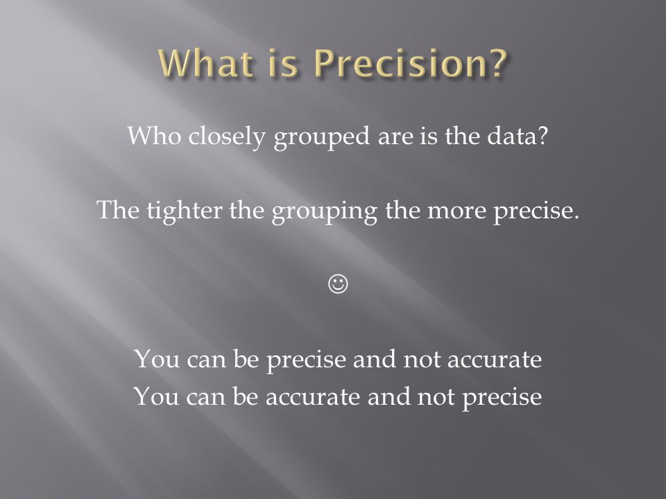 What is Precision