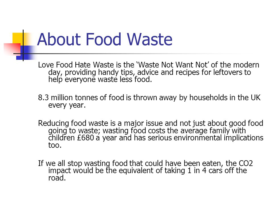 About Food Waste