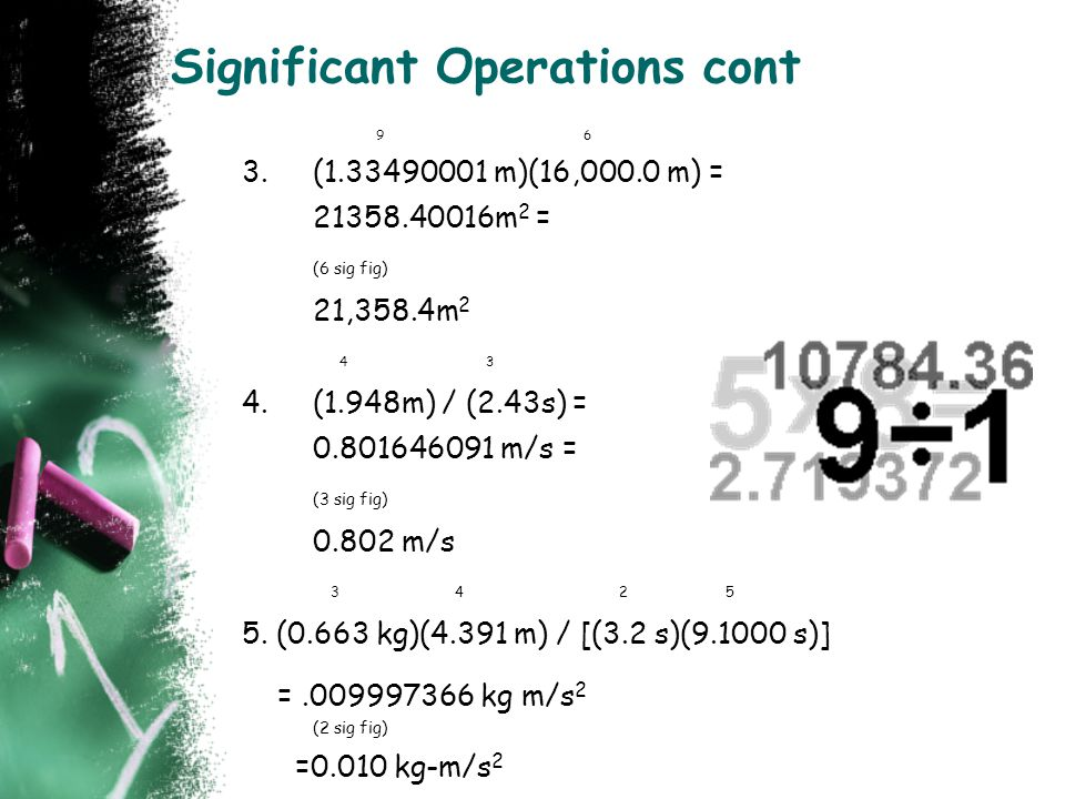 Significant Operations cont