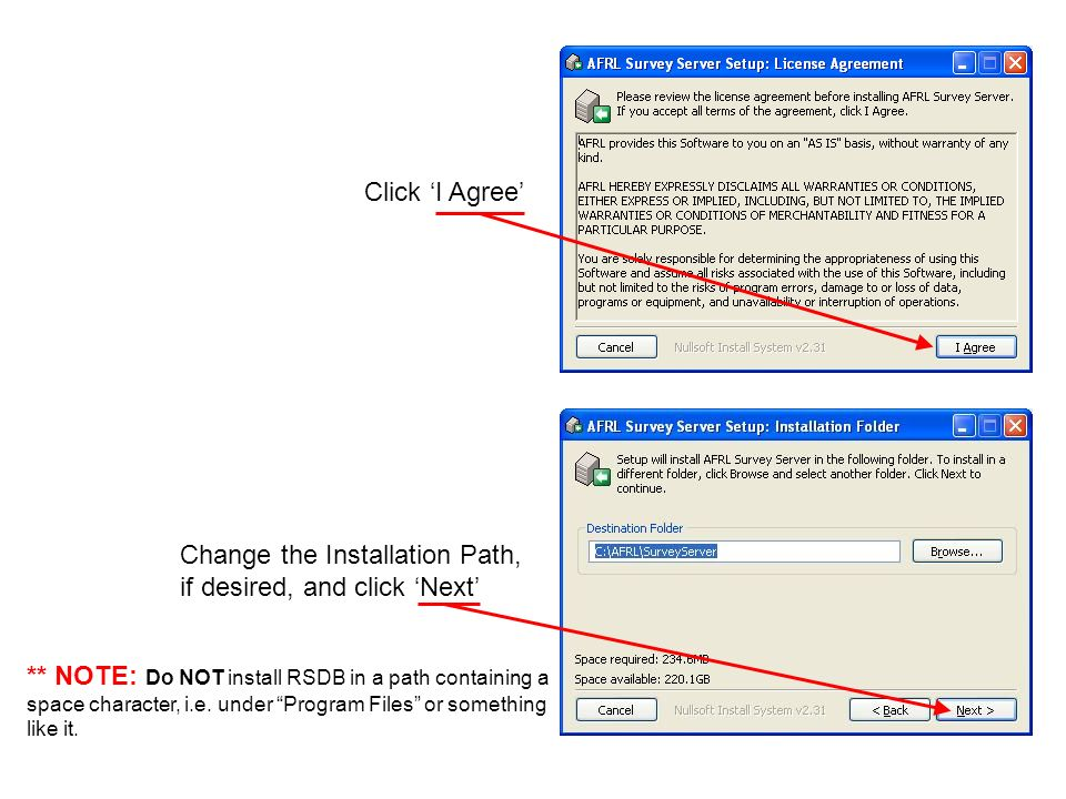 Change the Installation Path, if desired, and click 'Next'