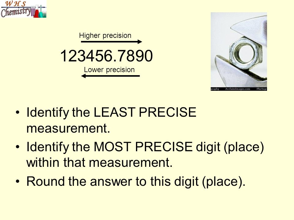 123456.7890 Identify the LEAST PRECISE measurement.