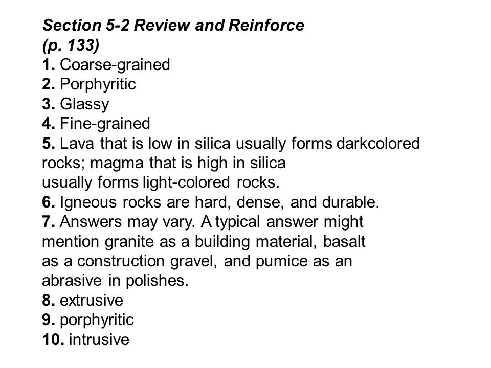Section 5-2 Review and Reinforce