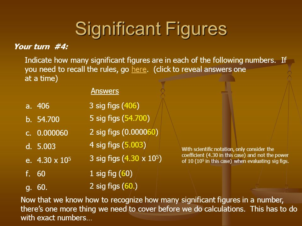Significant Figures Your turn #4: