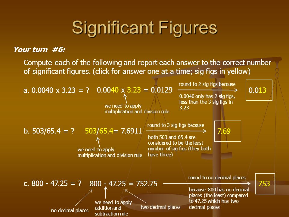 Significant Figures Your turn #6: