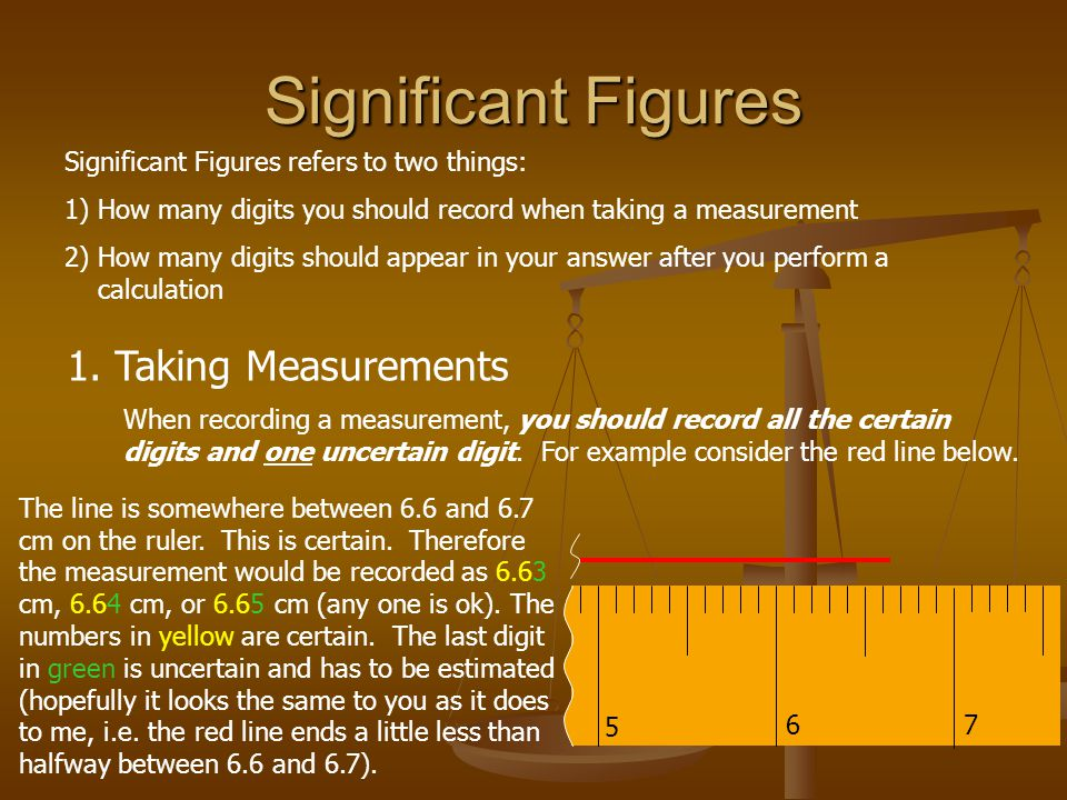 Significant Figures 1. Taking Measurements