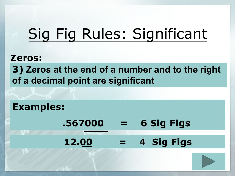 Sig Fig Rules: Significant