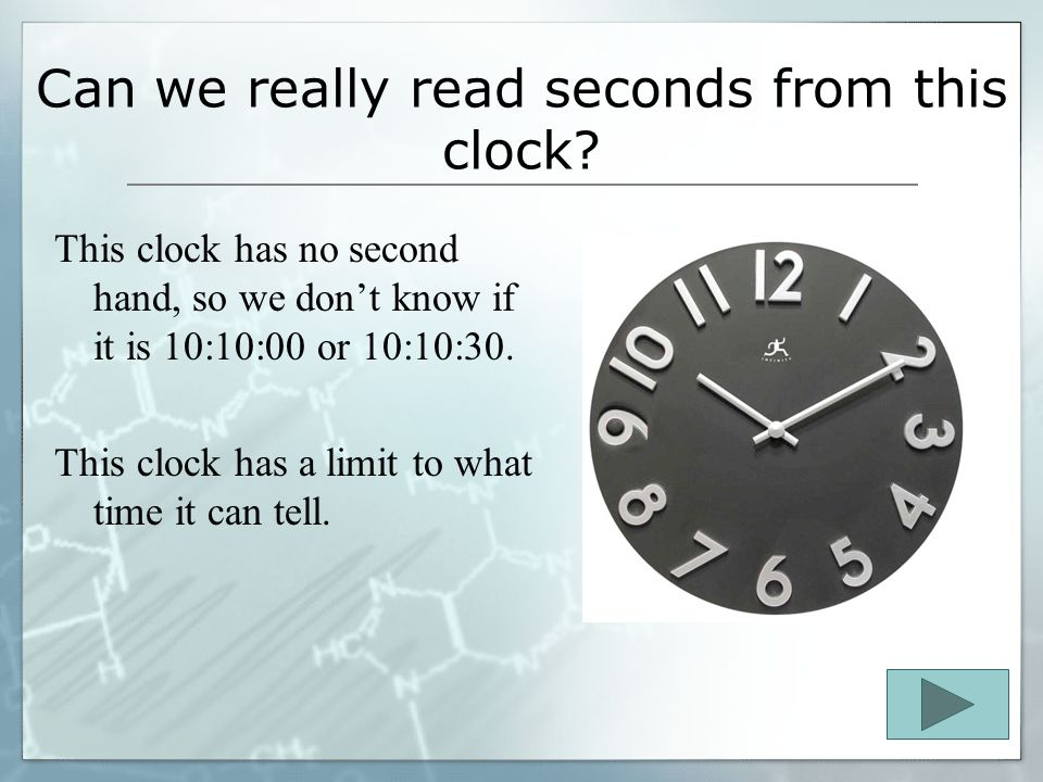 Can we really read seconds from this clock