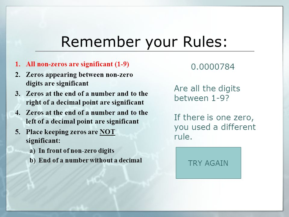 Remember your Rules: 0.0000784 Are all the digits between 1-9