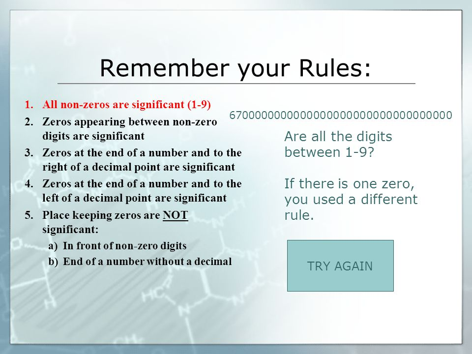 Remember your Rules: Are all the digits between 1-9