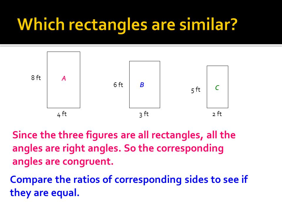 Which rectangles are similar