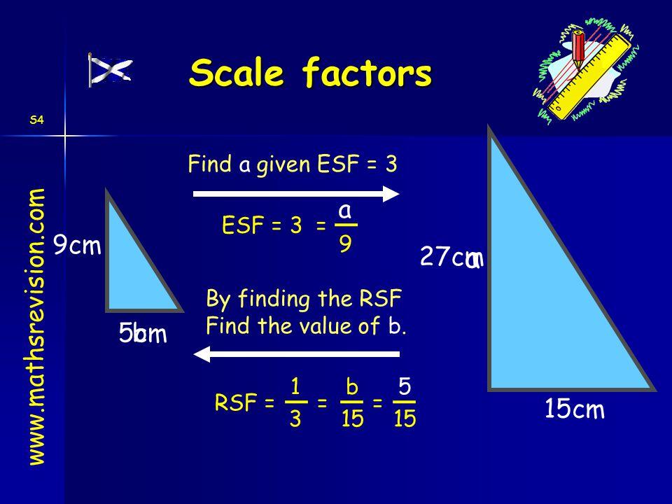Scale factors a 9cm 27cm www.mathsrevision.com 5cm b 15cm